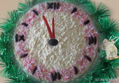 Салат Часы