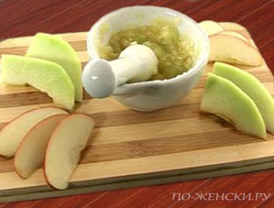 Готовим яблочную маску
