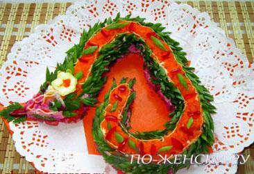 салат змейка 2