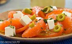 Салаты с грейпфрутом