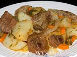 Диетическое рагу мясное